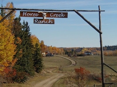 5 Exchange with Horse Creek Guest-Ranch, Fort Assiniboine, Alberta, Canada